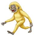 A yellow gorilla vector