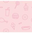 Junk food pink seamless pattern vector