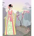 China girl vector