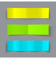 Set of bended paper colorful banners with shadows vector