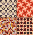 Retro style geometric patterns background vector