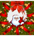 Christmas wreath design vector