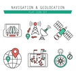 Different navigation icons set with rounded vector