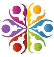 Teamwork leafs logo vector
