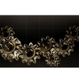 Gears background black horizontal vector
