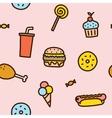 Junk food seamless pattern vector
