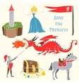 Set of mediavels tale persons vector