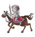 Cartoon knight vector