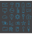 Line craft web icons set for business vector