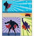 Superhero banners vector