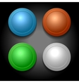 Set of different color blank buttons template vector