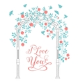 I love you text card vector
