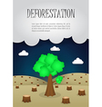 The last remaining trees in the forest nature vector