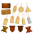 Big set of leather labels and tags vector