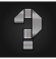 Letter metal chrome ribbon - question mark vector