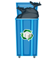 Recycling dustbin vector