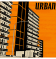 Orange urban city vector