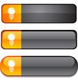 Bulb button set vector