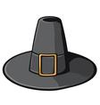 Black pilgrim hat vector