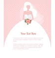 Wedding invitation young woman silhouette vector