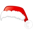 Santa claus hat isolated on white background vector