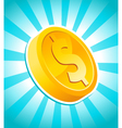 Dollar gold coin vector