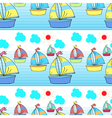 Seamless pattern with kids theme vector