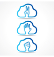 Creative victorhelp and unity hand icon design vector