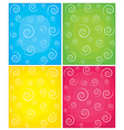 Set of swirl backgrounds vector
