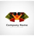 Geometric shape company logo vector