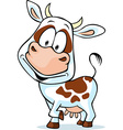 Funny cow cartoon - isolated on white background vector