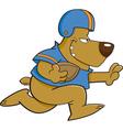 Cartoon football bear vector