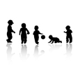 Silhouettes - children vector