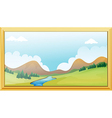 Frame of a mountain view vector