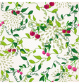 Seamless pattern with cherry vector