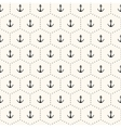 Seamless retro pattern with anchors vector