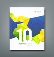 Cover magazine geometry yellow and green design vector