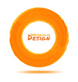 Hand drawn watercolor orange circle design element vector
