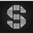 Letter metal chrome ribbon - s vector