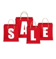 Sale labels like shopping bag vector
