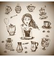 The love of coffee scene vector