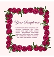 Frame of raspberries vector