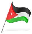 Flag of jordan vector