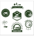 Set of retro vintage farm fresh labels badges and vector