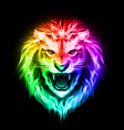 Head of colorful fire lion vector