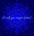 Magic winter postcard vector