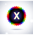 Spectrum logo icon letter x vector