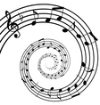 Music spiral background vector