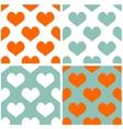 Tile pastel hearts background set vector