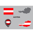 Map of austria and symbol vector